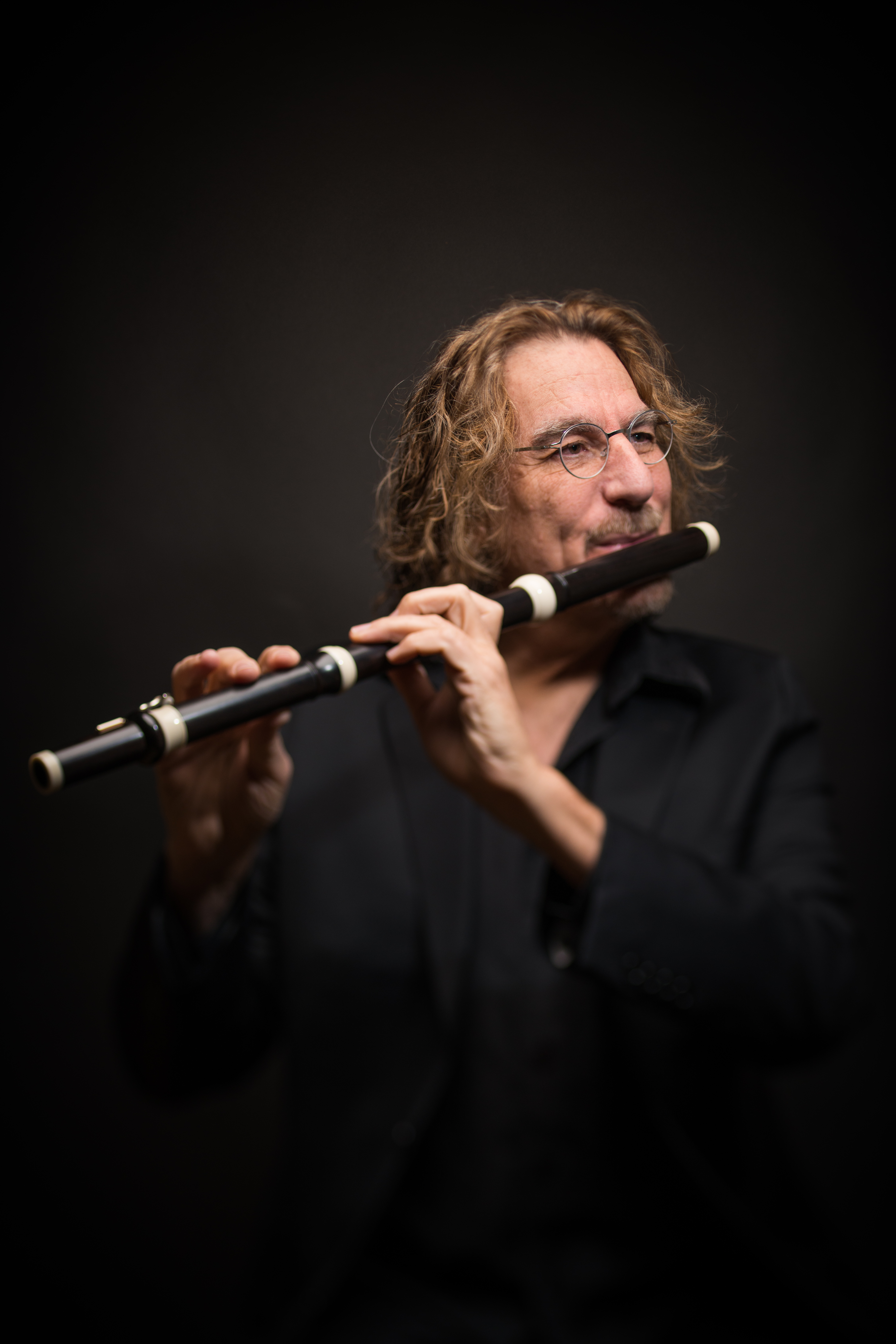 Baroque flautist STEPHEN SCHULTZ, guest artist with GLB on 17 April 2016 [Photo © by Stephen Schultz; used with permission]